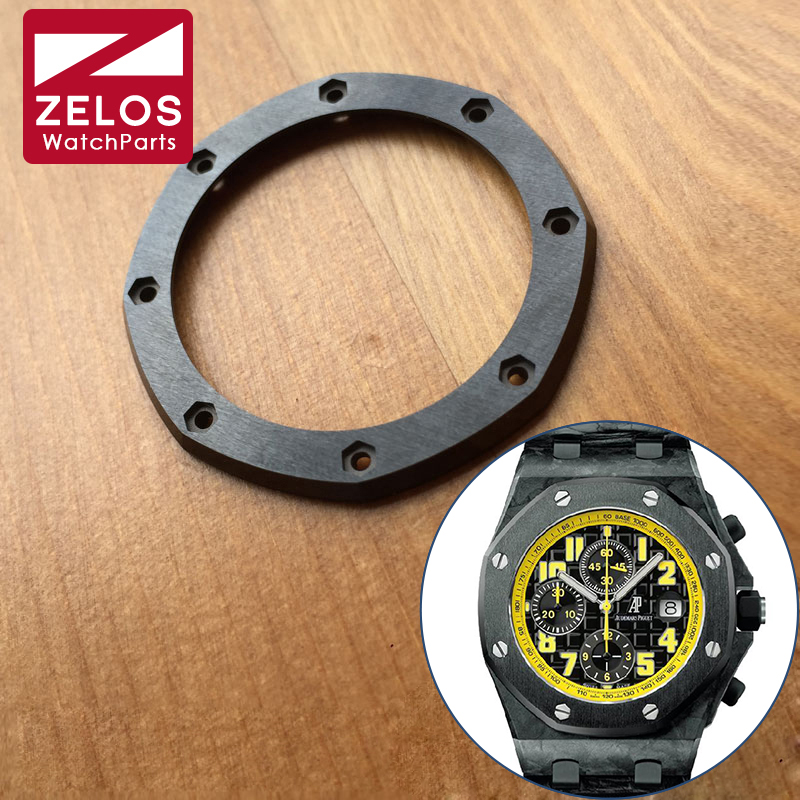 лучшая цена replace ceramic watch bezel inserts For AP ROO Royal Oak Offshore 42mm bumble bee automatic watch case 26470 parts