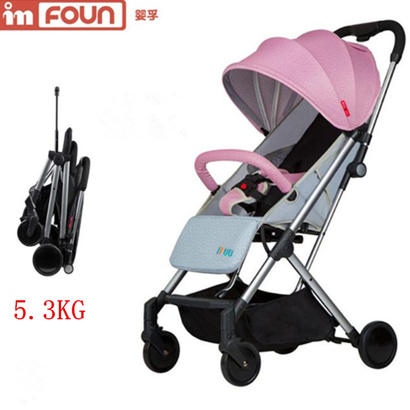Wingoffly baby stroller can sit can lie ultra-light folding portable child high landscape baby trolley BB umbrella car baby stroller ultra light portable shock absorbers bb child summer baby hadnd car umbrella