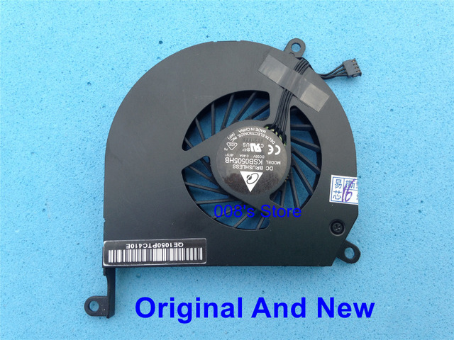 "Original Laptop CPU Cooling Fan Fit For Apple MacBook Pro 15"" A1286 MB470 MB471 MB985 MB986 DELTA KSB0505HB DC 5V 0.4A -8F51"