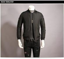 2017 atest стиль мужчины зимняя куртка мужчины короткий тонкий дизайн бейсбол мужской хлопка-ватник качество прекратив тепловой