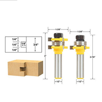 Tongue And Groove Router Bit Set 1 2 Shank 2pcs Woodwork Hard Alloy Tools
