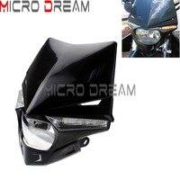 Black Motocross Streetfighter UFO Headlight Fairing Dirt Bike Universal For KTM Honda Yamaha Suzuki Kawasaki EXC KLX CRF WR DR