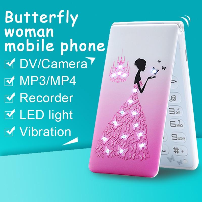 MAFAM D11 small cartoon Dual SIM card mp3 mp4 recorder women kids girls lady cute mini
