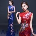 Mermaid Evening Dresses Chinese oriental dress floor length Gown saree robe de soiree formal dresses caftan vestido longo kaftan