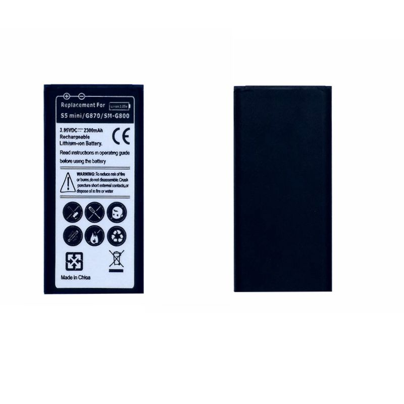 Wiederaufladbare Handy Akku für Samsung Galaxy Mini S5 SV Mini G800 G800F G800H G870 G870A G870W keine NFC Batterie Modell EB-BG800BBE
