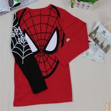 T-Shirt Spider-man A Long Sleeves Cotton Kids Baby Boys