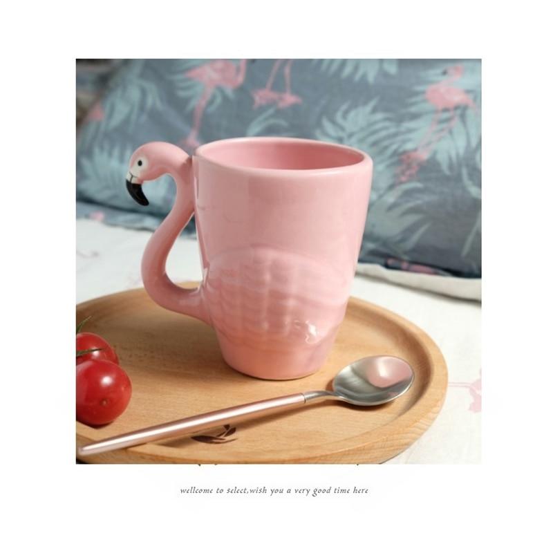 Fashion Gift 3d As Christmas From 98pink Decoration In Animal Cups Girl Mug Us22 Cute Bird Mugs Cartoon For Flamingos Ceramic Coffee Birthday 5q34AjRL