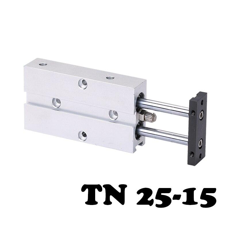 Livraison gratuite TN25 * 15 deux axes double barre cylindre cylindre composant pneumatique 25mm alésage 15mm course pneumatique cylindre d'air