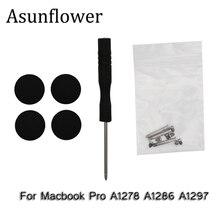 Asunflower нижний чехол, резиновые ножки, комплект с винтами, отвертка для Macbook Pro A1278 A1286 A1297, набор винтов