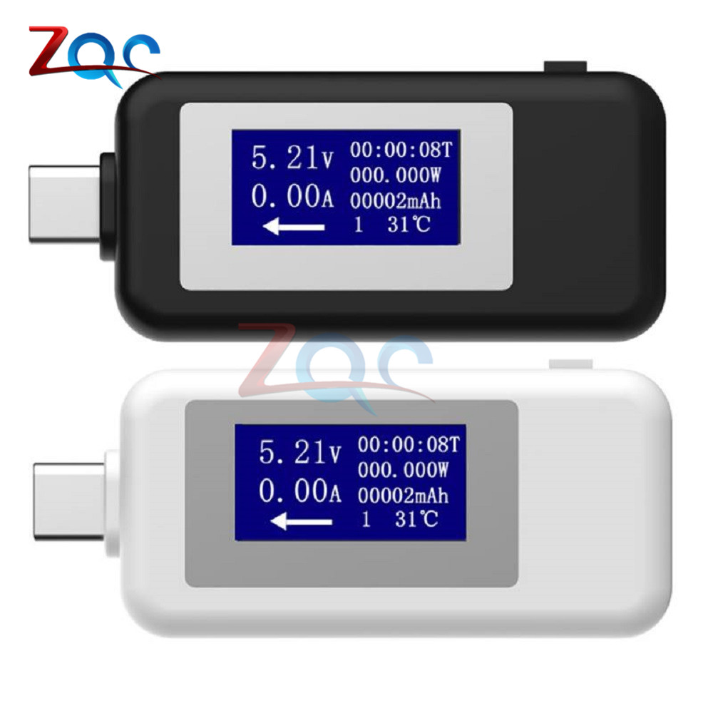 Type-C USB Tester DC Digital Voltmeter USB-C Voltage Current Meter Ammeter Detector Type C Power Bank Charger Indicator USB C