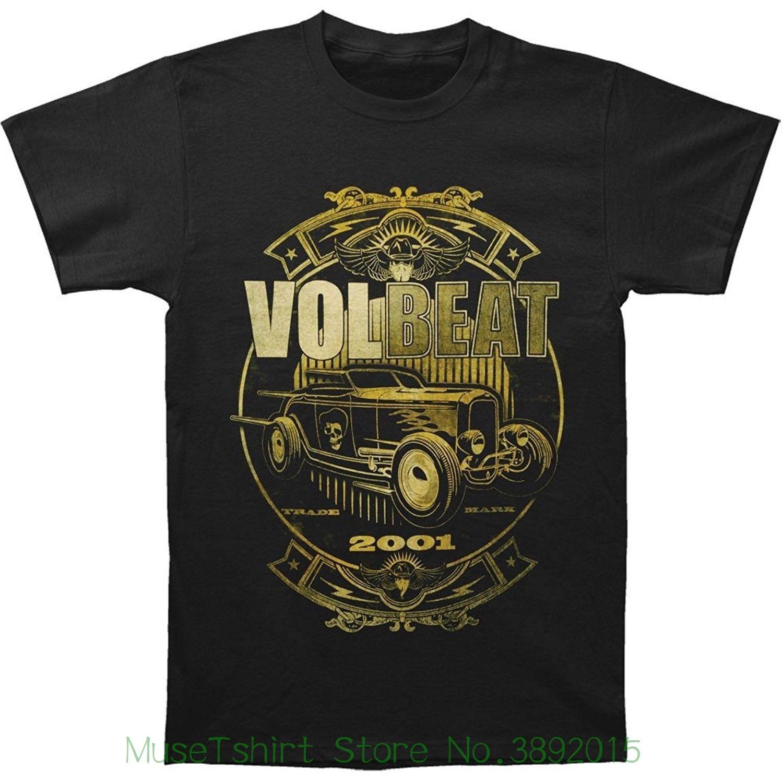 Volbeat Mens Custom Car Shop T-shirt Black Loose Cotton T-shirts For Men Cool Tops T Shirts