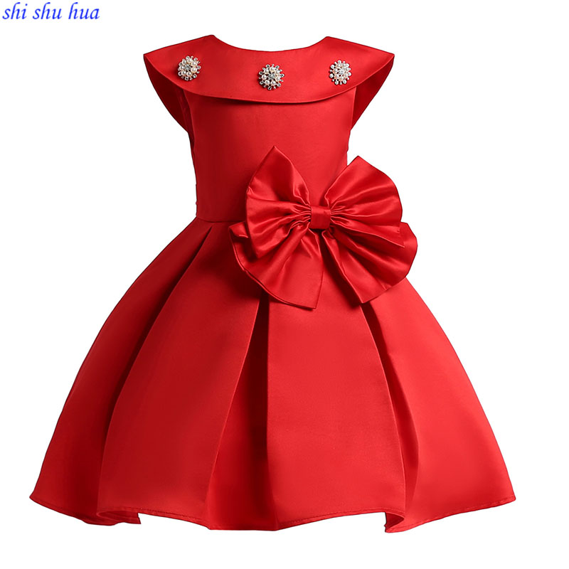 Childrens Clothing Girls Fashion Dress Baby Birthday Party Prom Dresses High-grade Dresses 3-10 Years Girl Dress Hot Sale 2018