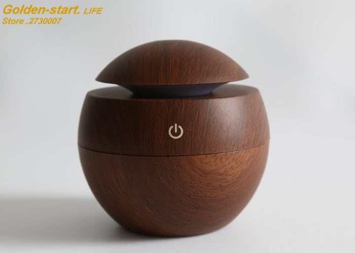 Free Tax to Europ countries! USB Mini Wooden Ultrasonic Aromatherapy Humidifier Mist Maker LED Light Aroma Diffuser Air Purifier