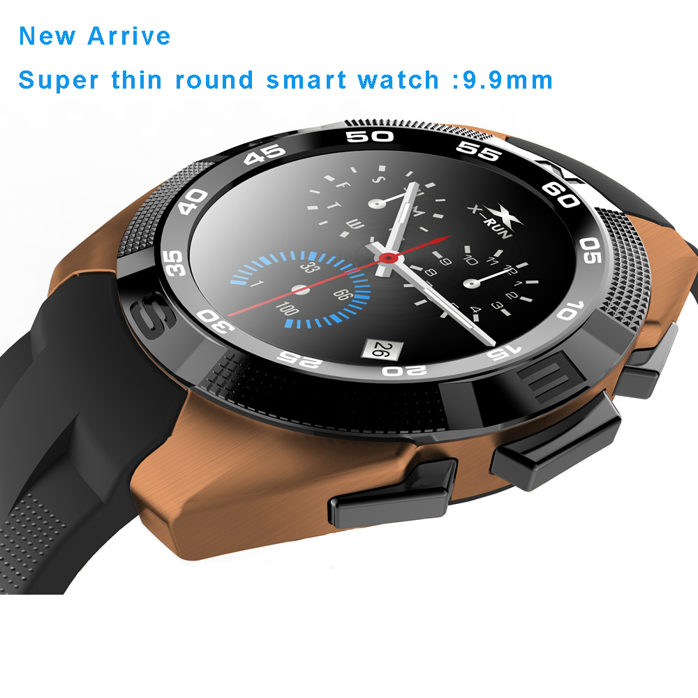 ФОТО NEW NO.1 NB-1 9.9mm Ultra Thin Stainless Steel Smart Watch MTK2502 Heart Rate Monitor Smart Band Sync Call /SMS Remote Control