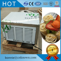 One round pan with 4 tanks new design fried frying ice cream compressor ice roll machine