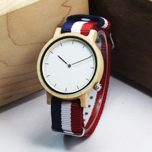 New Arrival Maple Wooden Fashion Brand Wristwatch For Men And Women With Nylon  Straps