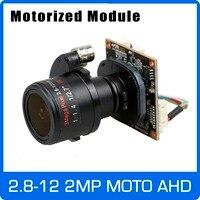 Motor 4X AHD Camera 1080P 2.8 12mm Zoom & Auto Focal Lens SONY CMOS UTC Coaxial OSD Control Module Board free shipping