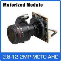 Motor 4X AHD Cámara 1080P 2,8-12-12mm Zoom y Auto lente Focal SONY CMOS UTC Coaxial de Control OSD módulo envío gratis