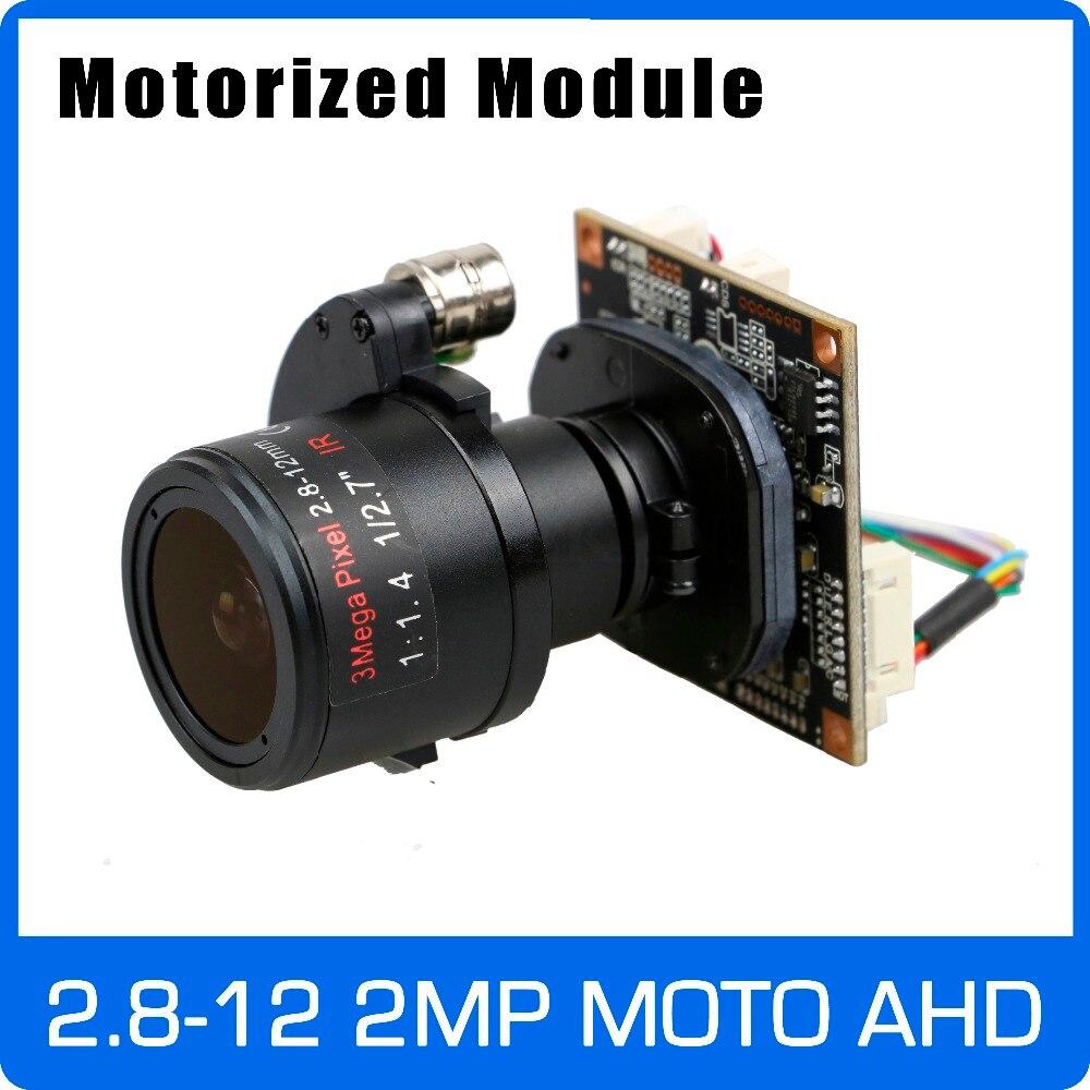 Motor Câmera AHD 1080 P 2.8-12 4X mm Lente Zoom & Auto Focal SONY CMOS OSD UTC Coaxial placa do Módulo de controle frete grátis