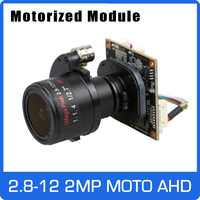 Motore 4X Ahd 1080P Della Macchina Fotografica 2.8-12 Mm Zoom E Auto Lente Focale Sony Cmos Utc Coassiale Osd bordo Del Modulo di Controllo di Trasporto Libero