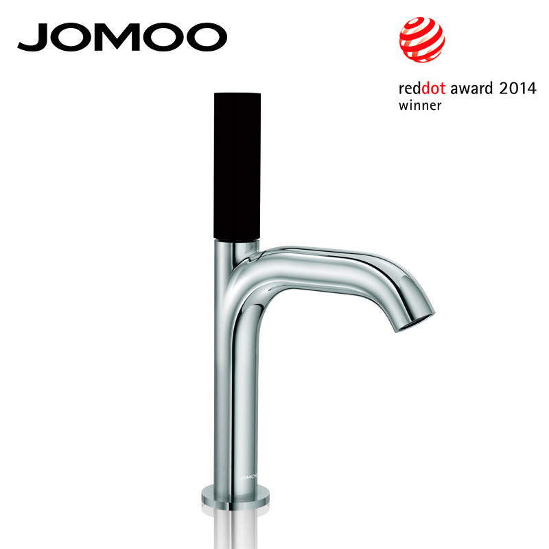 JOMOO Basin Faucet Reddot Award Chrome Bathroom Sink Faucet Mixer Tap Single Handle Single Hole Luxury Quality Faucet micoe hot and cold water basin faucet mixer single handle single hole modern style chrome tap square multi function m hc203