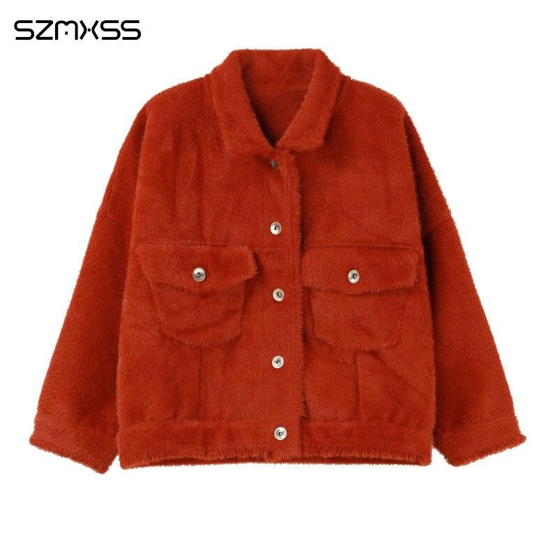 2018 automne et d'hiver femmes manteau nouvelle version Coréenne à manches longues veste de mode sauvage lâche court solide couleur cardigan vestes
