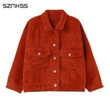 2018 осенние и зимние женские пальто новый корейский вариант кофта с длинными рукавами модные свободные короткие однотонные куртки