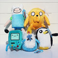 Free Shipping Adventure time Plush Toys 4style Jake Finn Beemo BMO Penguin Gunter Stuffed Animals Plush Dolls Soft Toys HT3043