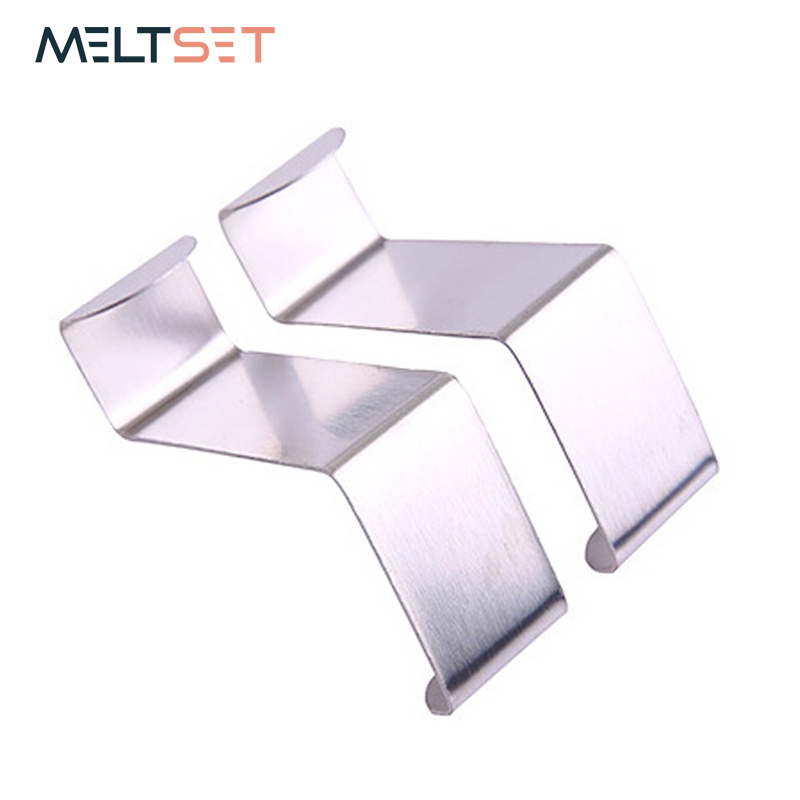 2Pcs/Set Stainless Steel Over Door Hooks Clothes Hanger Towel Key Holders S-Shaped Back Door Hook Kitchen Bathroom Accessories