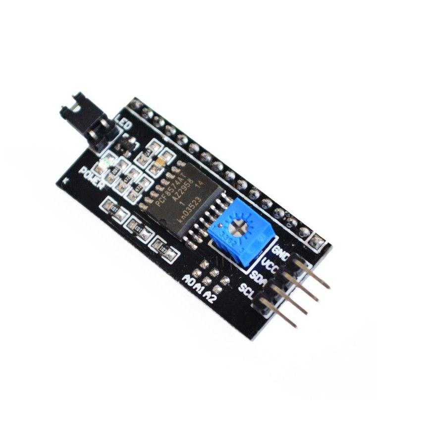 Moduł LCD niebieski ekran PCF8574 IIC/I2C 1602 LCD żółty-tło green screen dla arduino uno r3 mega2560 zestaw do samodzielnego montażu