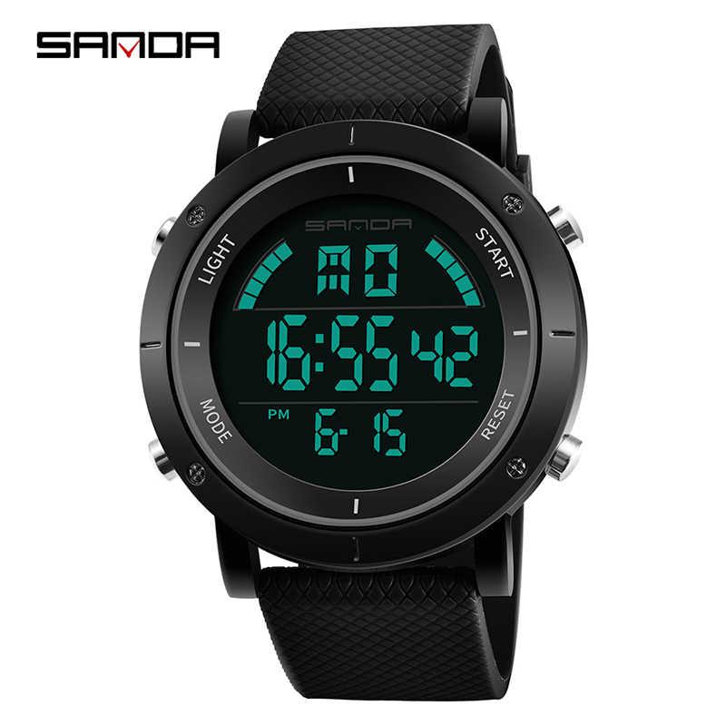 2019  Stainless Steel Case Men's Digital Watches Top Brand Luxury Waterproof Military Sport Watch Relogio Masculino 410