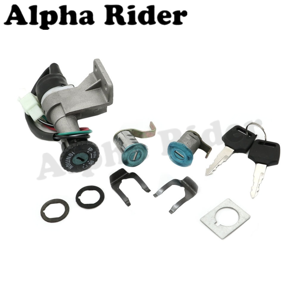 4 Wires Motorcycle Ignition Switch Lock Key Set for Eagle 49cc Tank Urban Lance GTR 50cc 125cc 150cc GY6 Moped Scooter TaoTao