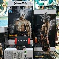 HOT Banpresto Japan Anime Dragon Ball Super Jiren VS Ultra Instinct Omen Silver Goku 31 cm PVC Action Figure Model Toy
