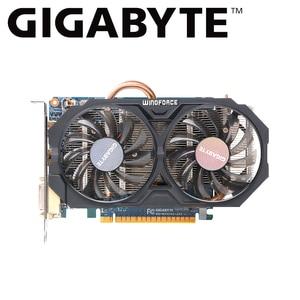 Gigabyte графическая карта gtx 750 ti 2 Гб GV-N75TOC-2GI NVIDIA GeForce GTX 750 Ti GPU GDDR5 128-bit 2 ГБ для pc Gamer видеоигры карты