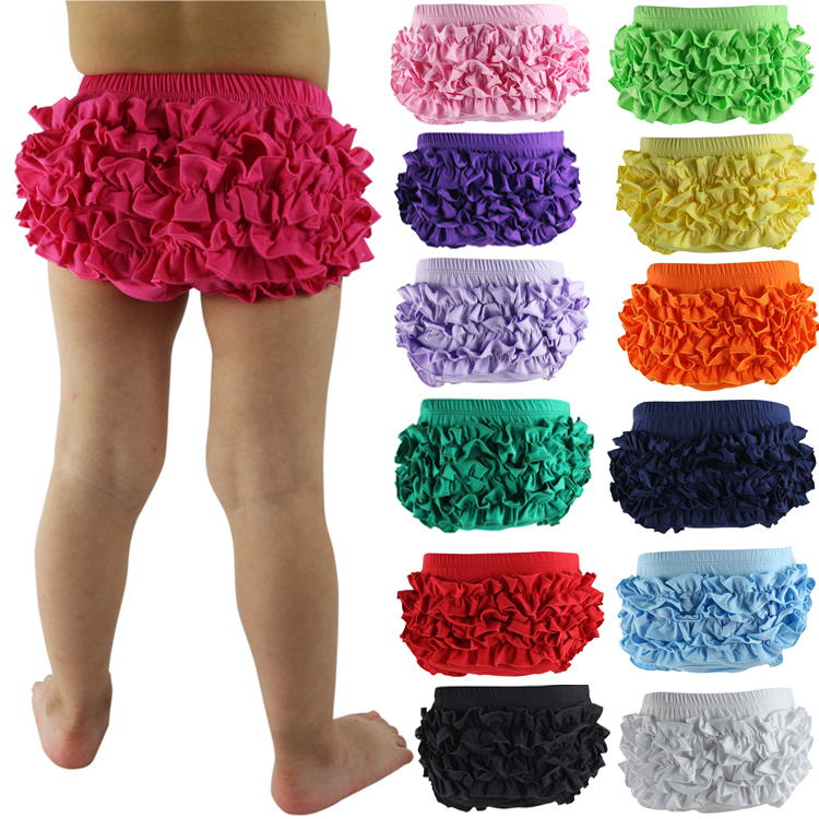 Baby Bloomers Bragas Wennikids საცალო Baby Cotton Bloomers 19 ფერები Cute Tutu Design ჩვილი Ruffle Shorts Toddler Diaper Covers
