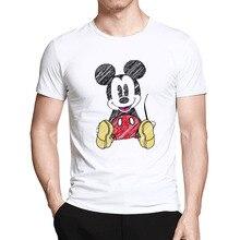Mickey T-Shirt moda uomo del fumetto di Mickey stampa streetwear uomini  manica corta t shirt di cotone casuale di vendita Calda . 6be0ab6f8f63