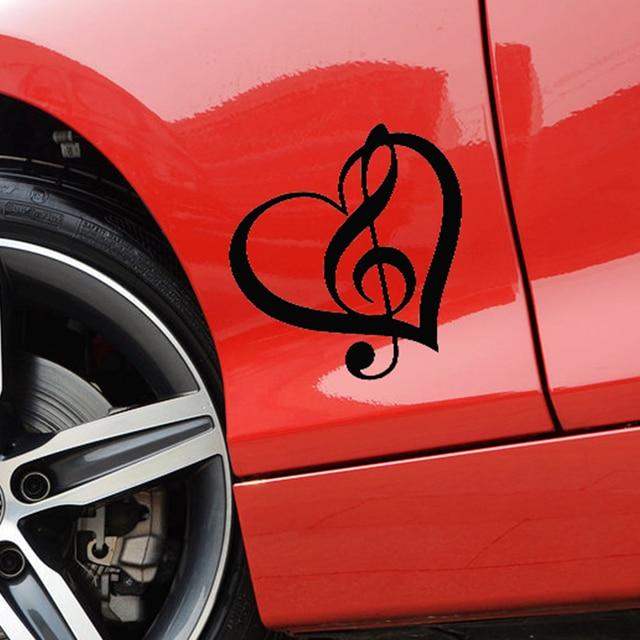 Wholesale Pcslot Cm X Cm Treble Clef Heart Vinyl Decal - Vinyl decals for cars wholesale