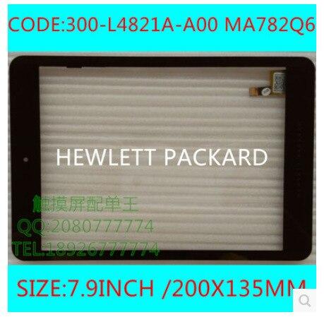 Новый 7.9 дюйм(ов) tablet емкостный сенсорный экран 300-L4821A-A00 MA782Q6 черный бесплатная доставка