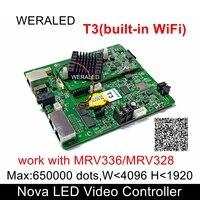 Oferta Novastar T3 tarjeta de Control de pared de Video LED asíncrono para interiores exteriores tarjeta de