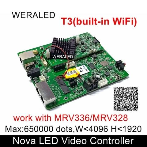 novastar t3 asynchronous indoor outdoor parede de video led cartao de controle nova wifi full