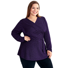 Classic Style Winter Plus Size Long Sleeved Women's Top