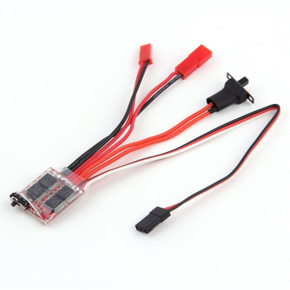 3.0V-9.4V 2KHz Driver Frequency RC ESC 20A Brush Motor Electronic Speed Controller W/ Brake For RC Car Boat Tank wholesale 1pcs rc brushed esc 20a brush motor speed controller w brake for rc 1 16 1 18 car boat tank drop free shipping page 7