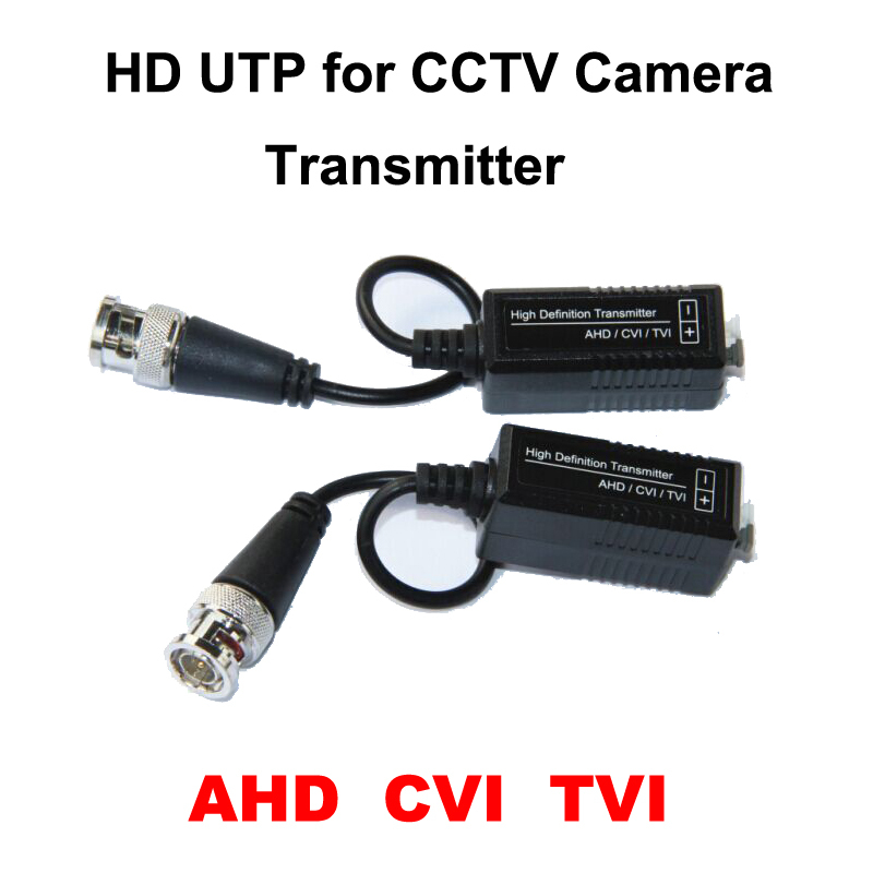 HD Best CCTV UTP AHD Video Balun Cat5 With BNC UTP Video Connector Balun Transceiver For Camera Passive AHD Balun HDCVI TVI
