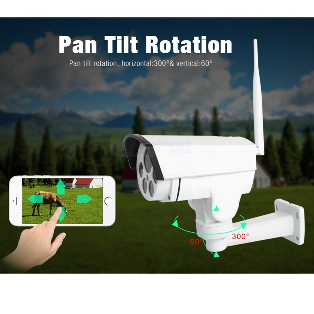 Image 4 - 1080P PTZ Camera Wi FI 3G 4G SIM Card Camera Wifi Bullet Camera Outdoor Wireless IR 50M 5X 10X Zoom Auto Focus Lens CCTV Cam-in Surveillance Cameras from Security & Protection