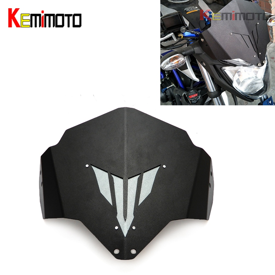 цена KEMiMOTO MT-03 MT 03 MT25 MT03 Motorcycle Motorbike Windshield Windscreen For Yamaha MT03 FZ-03 MT-25 accessories 2015 2016