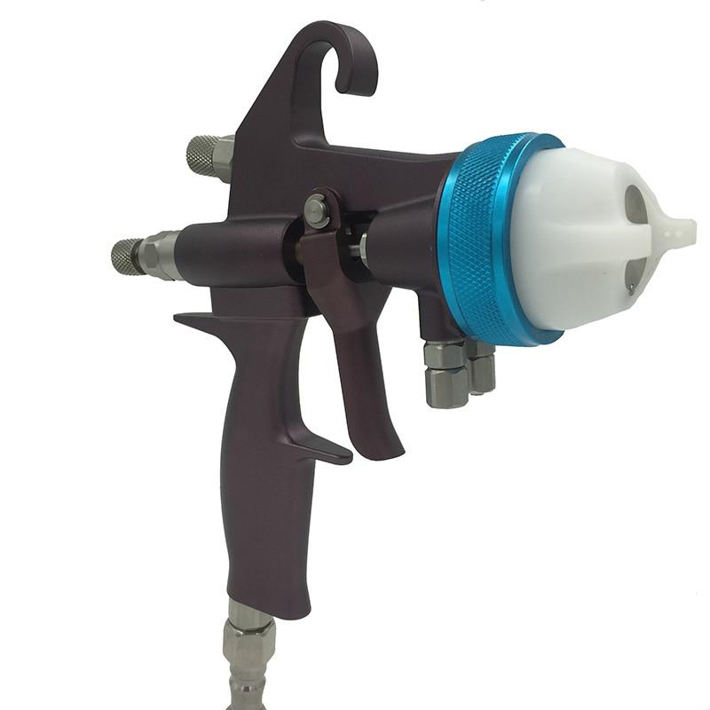 Nano króm kettős fúvóka mini permetező pisztoly Csokoládé - Elektromos kéziszerszámok - Fénykép 3