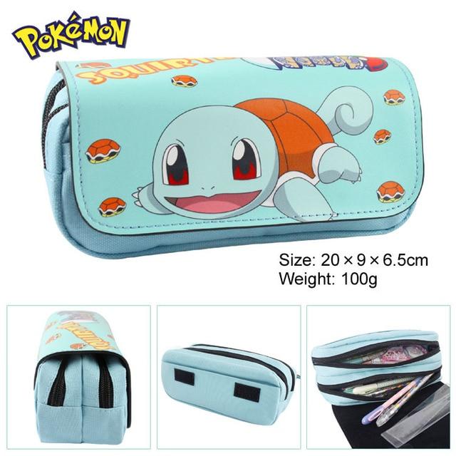 Pocket Monster Pokemon bag GO Jeni turtle Iraq Bedouin functional double-layer large capacity zipper bag