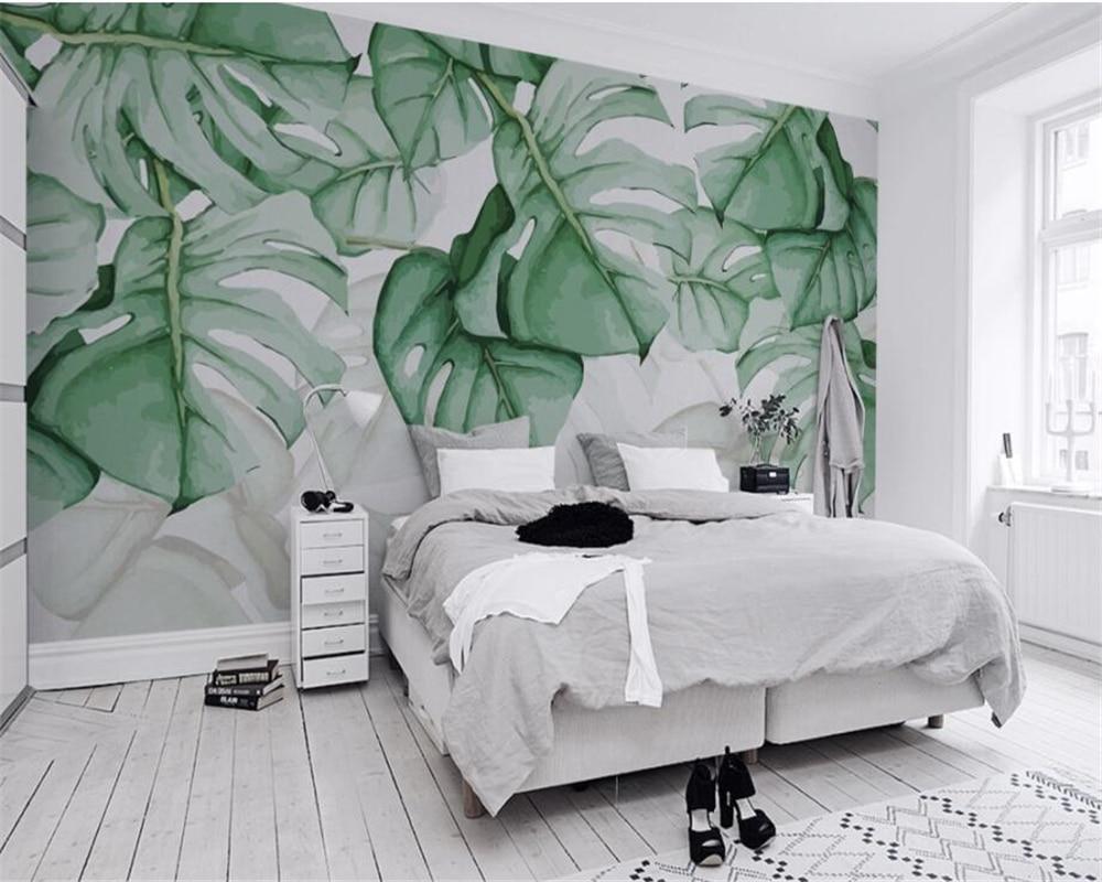 Купить с кэшбэком Custom murals wallpaper Tropical plants background wall papers home decor papel de parede 3d wallpaper papel tapiz Beibehang
