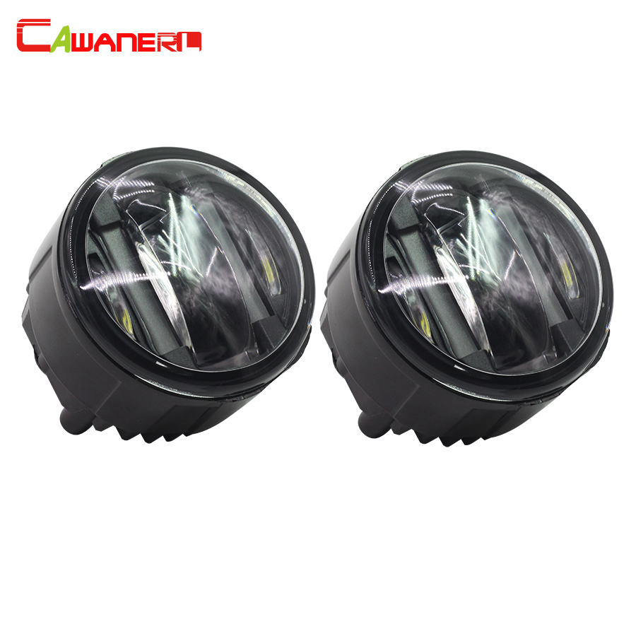 Cawanerl 2 x Car Styling LED Fog Light Daytime Running Lamp DRL For Nissan Patrol Tiida Qashqai for nissan patrol y62 armada accessories original design fog lamp with chrome fog light cover