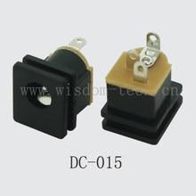 O envio gratuito de 100 pçs/lote central pin2.0/2.5 * O. D.5.5 plug power jack DIP 3pin PCB montagem DC-015